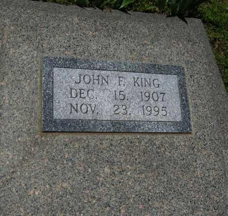 KING, JOHN F - Cowley County, Kansas | JOHN F KING - Kansas Gravestone Photos