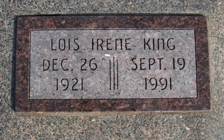 KING, LOIS IRENE - Cowley County, Kansas   LOIS IRENE KING - Kansas Gravestone Photos