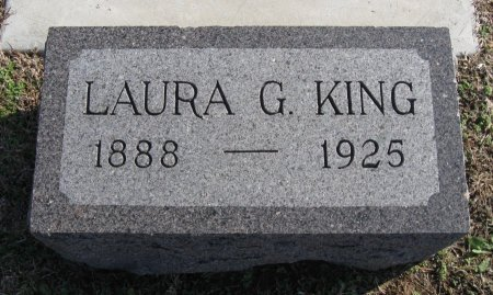 KING, LAURA G - Cowley County, Kansas | LAURA G KING - Kansas Gravestone Photos