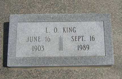 KING, LELAND ORVILLE - Cowley County, Kansas   LELAND ORVILLE KING - Kansas Gravestone Photos