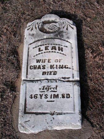 KING, LEAH - Cowley County, Kansas | LEAH KING - Kansas Gravestone Photos