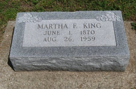 KING, MARTHA F - Cowley County, Kansas | MARTHA F KING - Kansas Gravestone Photos
