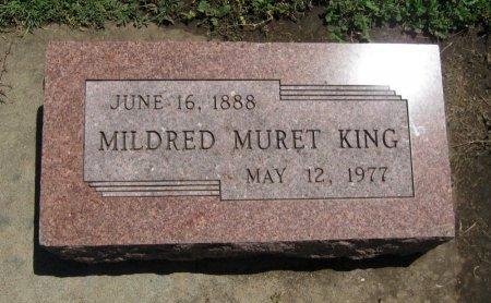 KING, MILDRED MURET - Cowley County, Kansas | MILDRED MURET KING - Kansas Gravestone Photos