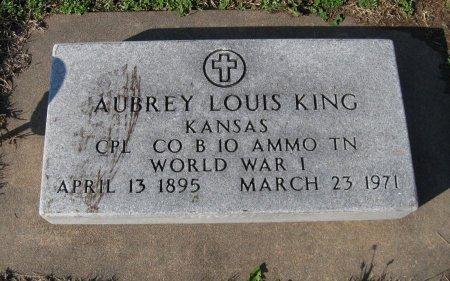 KING, AUBREY LOUIS (VETERAN WWI) - Cowley County, Kansas | AUBREY LOUIS (VETERAN WWI) KING - Kansas Gravestone Photos