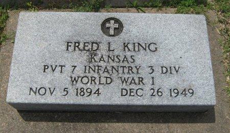 KING, FRED L (VETERAN WWI) - Cowley County, Kansas   FRED L (VETERAN WWI) KING - Kansas Gravestone Photos