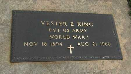 KING, VESTER E (VETERAN WWI) - Cowley County, Kansas | VESTER E (VETERAN WWI) KING - Kansas Gravestone Photos