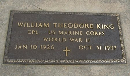 KING, WILLIAM THEODORE (VETERAN WWII) - Cowley County, Kansas | WILLIAM THEODORE (VETERAN WWII) KING - Kansas Gravestone Photos
