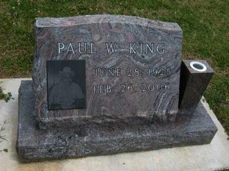 KING, PAUL W - Cowley County, Kansas | PAUL W KING - Kansas Gravestone Photos