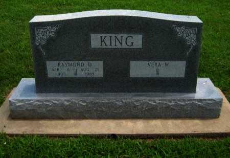 KING, RAYMOND D - Cowley County, Kansas | RAYMOND D KING - Kansas Gravestone Photos