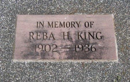 KING, REBA H - Cowley County, Kansas | REBA H KING - Kansas Gravestone Photos