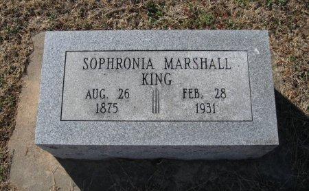KING, SOPHRONIA - Cowley County, Kansas | SOPHRONIA KING - Kansas Gravestone Photos