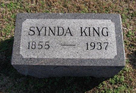 KING, SYINDA - Cowley County, Kansas   SYINDA KING - Kansas Gravestone Photos