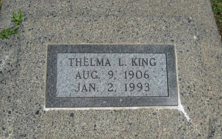 KING, THELMA LEOTA - Cowley County, Kansas | THELMA LEOTA KING - Kansas Gravestone Photos