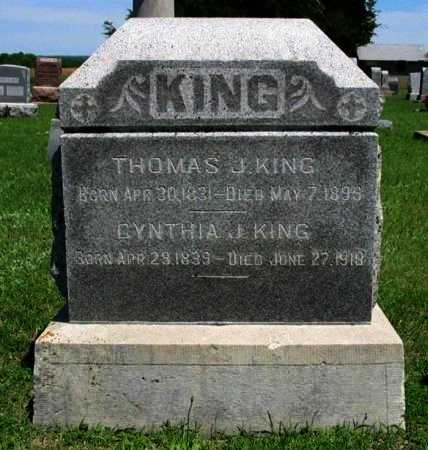 KING, THOMAS JEFFERSON - Cowley County, Kansas | THOMAS JEFFERSON KING - Kansas Gravestone Photos