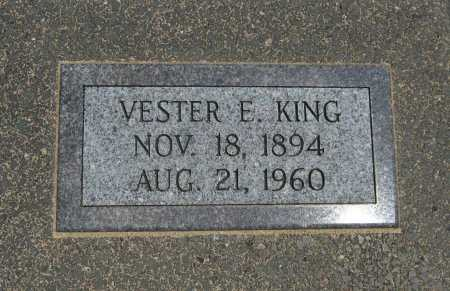 KING, VESTER E - Cowley County, Kansas | VESTER E KING - Kansas Gravestone Photos