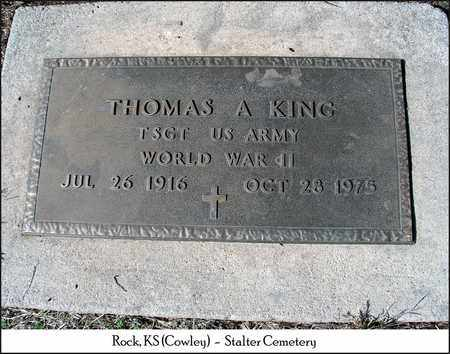 KING, THOMAS A  (VETERAN WWII) - Cowley County, Kansas | THOMAS A  (VETERAN WWII) KING - Kansas Gravestone Photos