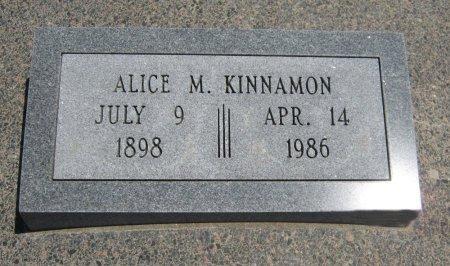 KINNAMON, ALICE M - Cowley County, Kansas | ALICE M KINNAMON - Kansas Gravestone Photos