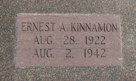 KINNAMON, ERNEST ARTHUR - Cowley County, Kansas   ERNEST ARTHUR KINNAMON - Kansas Gravestone Photos