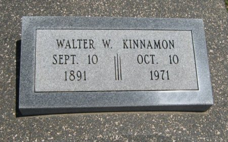 KINNAMON, WALTER WILLIAM - Cowley County, Kansas   WALTER WILLIAM KINNAMON - Kansas Gravestone Photos