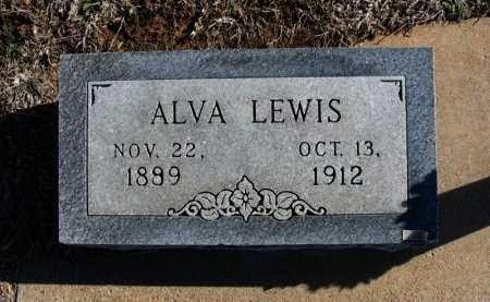 LEWIS, ALVA - Cowley County, Kansas   ALVA LEWIS - Kansas Gravestone Photos