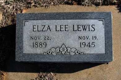 LEWIS, ELZA LEE - Cowley County, Kansas | ELZA LEE LEWIS - Kansas Gravestone Photos