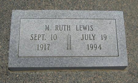LEWIS, M RUTH - Cowley County, Kansas | M RUTH LEWIS - Kansas Gravestone Photos