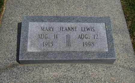 LEWIS, MARY JEANNE - Cowley County, Kansas | MARY JEANNE LEWIS - Kansas Gravestone Photos
