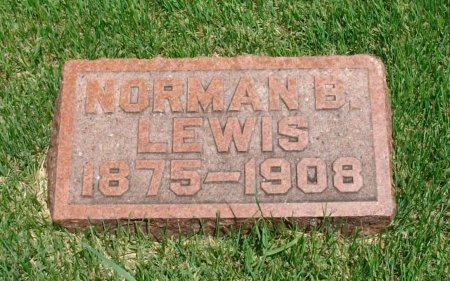 LEWIS, NORMAN B - Cowley County, Kansas | NORMAN B LEWIS - Kansas Gravestone Photos