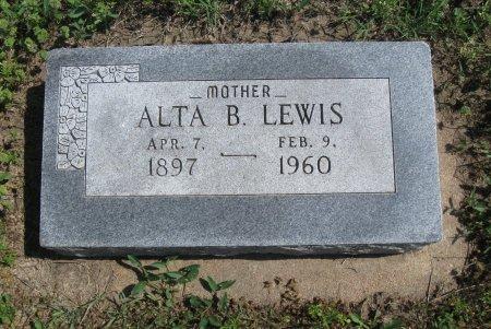 LEWIS, ALTA B - Cowley County, Kansas   ALTA B LEWIS - Kansas Gravestone Photos