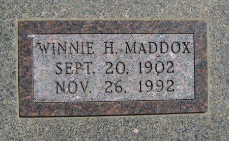 MADDOX, WINNIE H - Cowley County, Kansas | WINNIE H MADDOX - Kansas Gravestone Photos