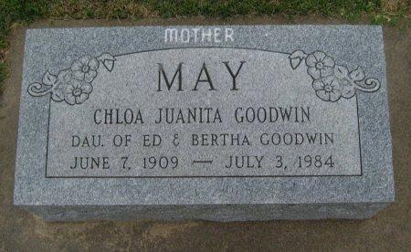 GOODWIN MAY, CHLOA JUANITA - Cowley County, Kansas   CHLOA JUANITA GOODWIN MAY - Kansas Gravestone Photos