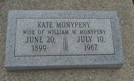 CRANDELL MONYPENY, KATE ELIZA - Cowley County, Kansas | KATE ELIZA CRANDELL MONYPENY - Kansas Gravestone Photos