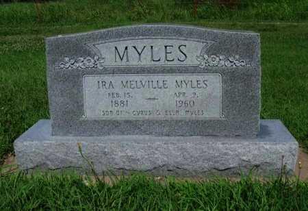 MYLES, IRA MELVILLE - Cowley County, Kansas | IRA MELVILLE MYLES - Kansas Gravestone Photos
