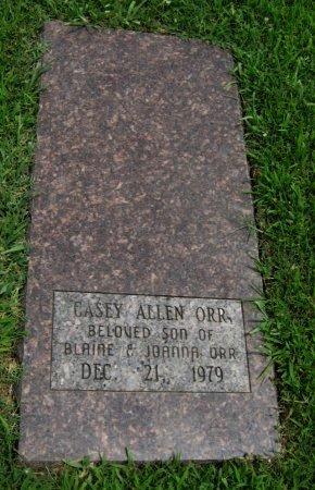 ORR, CASEY ALLEN - Cowley County, Kansas   CASEY ALLEN ORR - Kansas Gravestone Photos