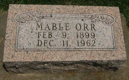 ORR, MABLE - Cowley County, Kansas | MABLE ORR - Kansas Gravestone Photos