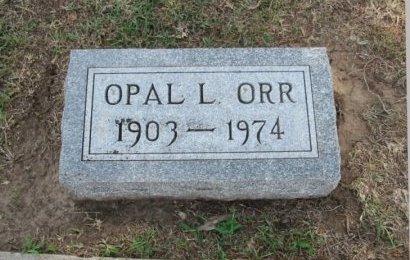 ORR, OPAL L - Cowley County, Kansas   OPAL L ORR - Kansas Gravestone Photos