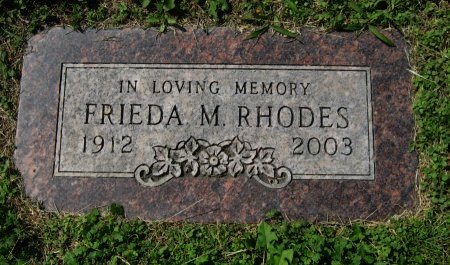 HOSTETTER RHODES, FRIEDA MARIE - Cowley County, Kansas | FRIEDA MARIE HOSTETTER RHODES - Kansas Gravestone Photos
