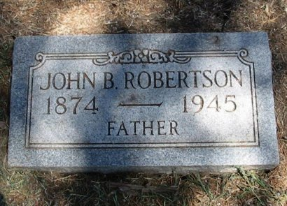 ROBERTSON,  JOHN BEVERLY  (VETERANWWI) - Cowley County, Kansas |  JOHN BEVERLY  (VETERANWWI) ROBERTSON - Kansas Gravestone Photos