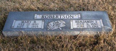 ROBERTSON, MARY B - Cowley County, Kansas | MARY B ROBERTSON - Kansas Gravestone Photos