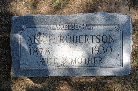 ROBERTSON, CORA ALICE - Cowley County, Kansas | CORA ALICE ROBERTSON - Kansas Gravestone Photos