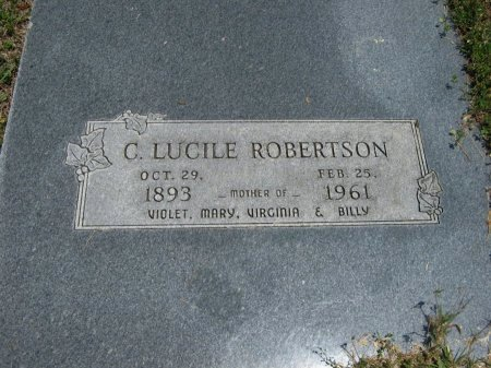 ROBERTSON, CATHERINE LUCILE - Cowley County, Kansas   CATHERINE LUCILE ROBERTSON - Kansas Gravestone Photos