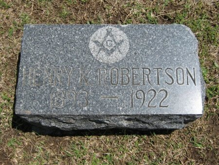 ROBERTSON, HENRY K (VETERAN WWI) - Cowley County, Kansas | HENRY K (VETERAN WWI) ROBERTSON - Kansas Gravestone Photos