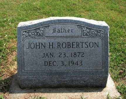 ROBERTSON, JOHN H - Cowley County, Kansas | JOHN H ROBERTSON - Kansas Gravestone Photos