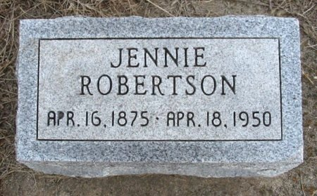 ROBERTSON, JENNIE - Cowley County, Kansas | JENNIE ROBERTSON - Kansas Gravestone Photos