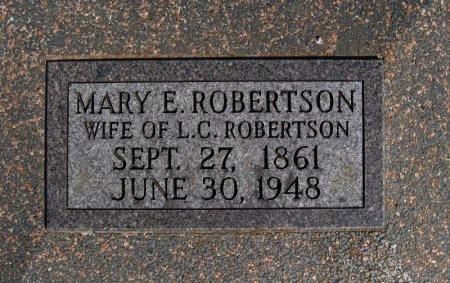 ROBERTSON, MARY E - Cowley County, Kansas | MARY E ROBERTSON - Kansas Gravestone Photos