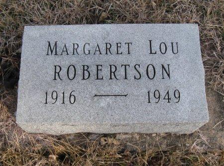 ROBERTSON, MARGARET LOU - Cowley County, Kansas | MARGARET LOU ROBERTSON - Kansas Gravestone Photos
