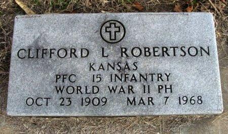 ROBERTSON, CLIFFORD L  (VETERAN WWII) - Cowley County, Kansas   CLIFFORD L  (VETERAN WWII) ROBERTSON - Kansas Gravestone Photos