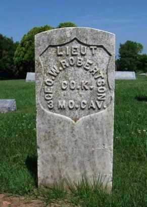 ROBERTSON, GEORGE W (VETERAN UNION) - Cowley County, Kansas | GEORGE W (VETERAN UNION) ROBERTSON - Kansas Gravestone Photos