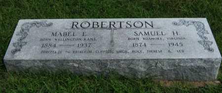 ROBERTSON, MABEL EMMA - Cowley County, Kansas | MABEL EMMA ROBERTSON - Kansas Gravestone Photos