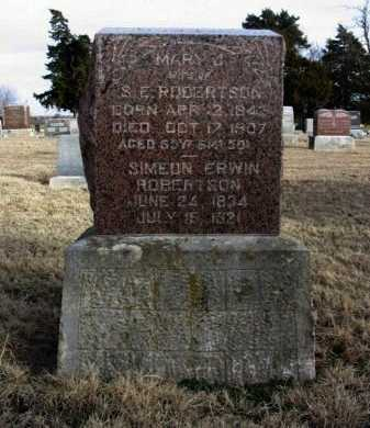 ROBERTSON, MARY JANE - Cowley County, Kansas | MARY JANE ROBERTSON - Kansas Gravestone Photos